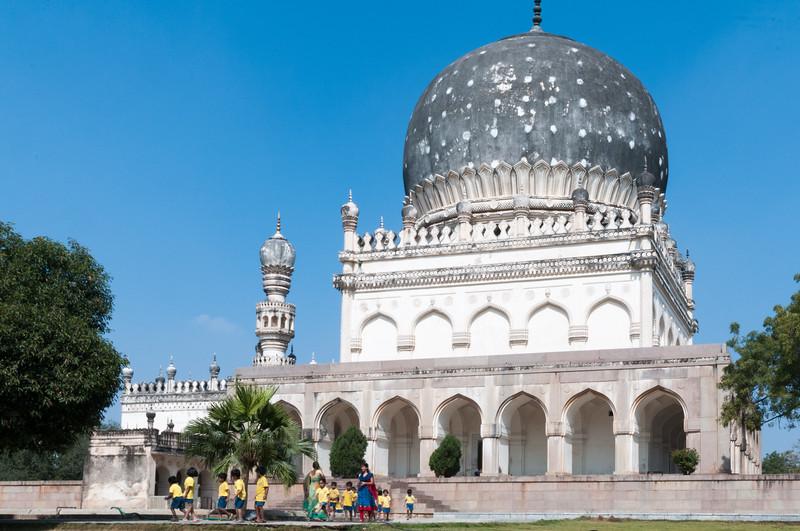 Tomb of Hayat Baksh Begum, queen among Qutb Shahi kings, Hyderabad.