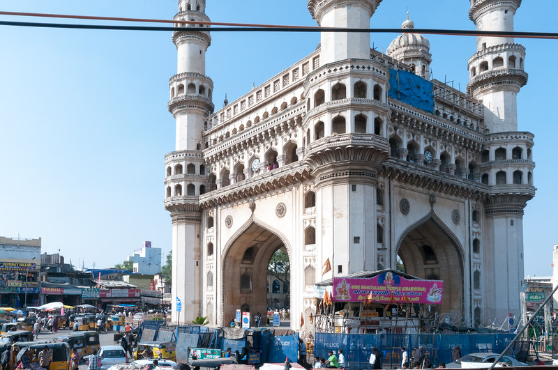 Charminar ('four towers') market area, Hyderabad.