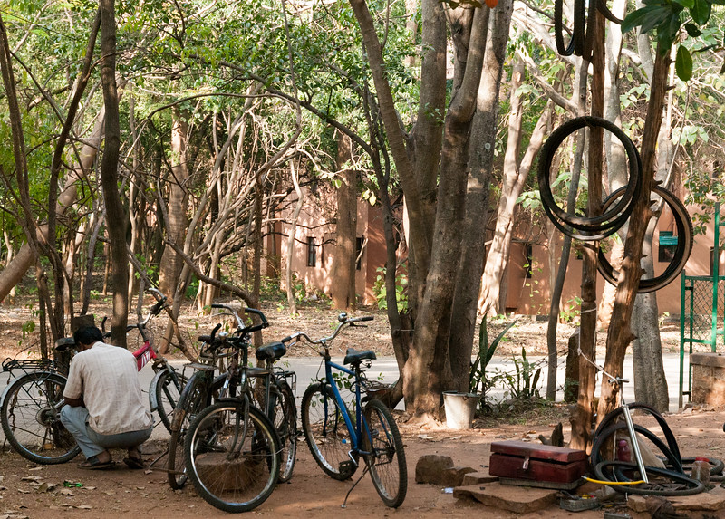 The bicycle repair wallah, IISc, Bangalore.
