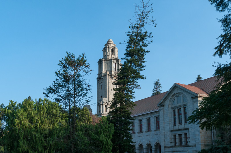 The central building, IISc, Bangalore.