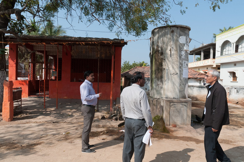 Village of Rajballaram - village temple, and water supply.