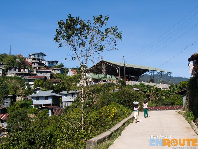 On the road at Guina-ang Village