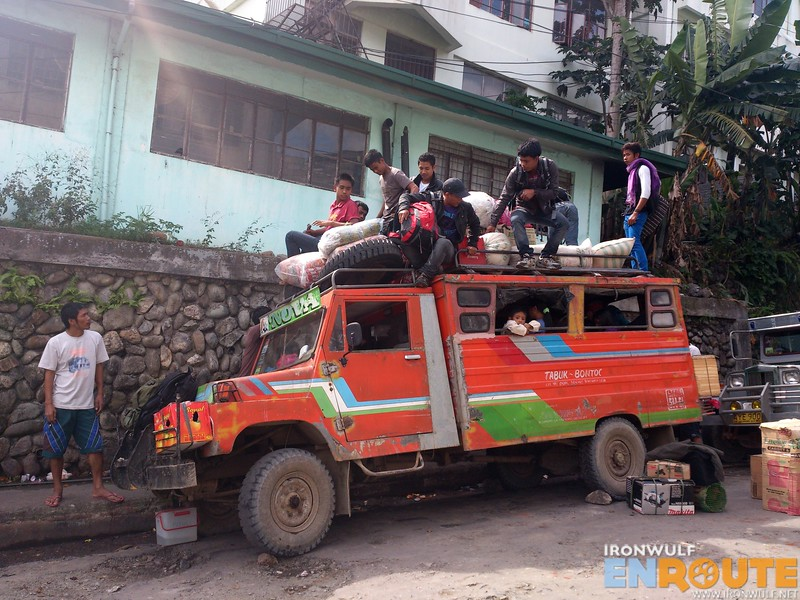 The jeep to Tinglayan