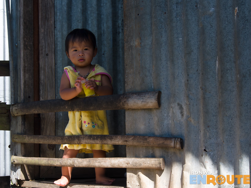A child by the door at Mainit