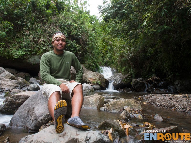 The author wearing the ZEMgear Terra at the Buscalan Falls