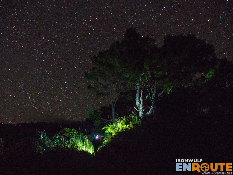 Hiking under the starry skies
