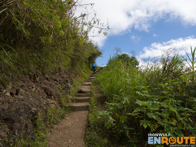 So many stairs! The trail to Buscalan village