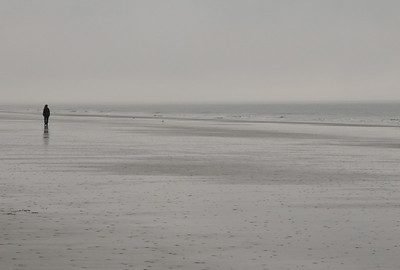 Foggy December morning on the beach at Kiawah.