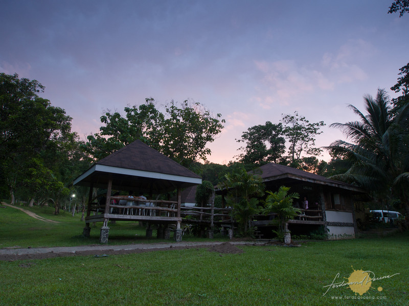 Gmelina huts, our dining area at the park
