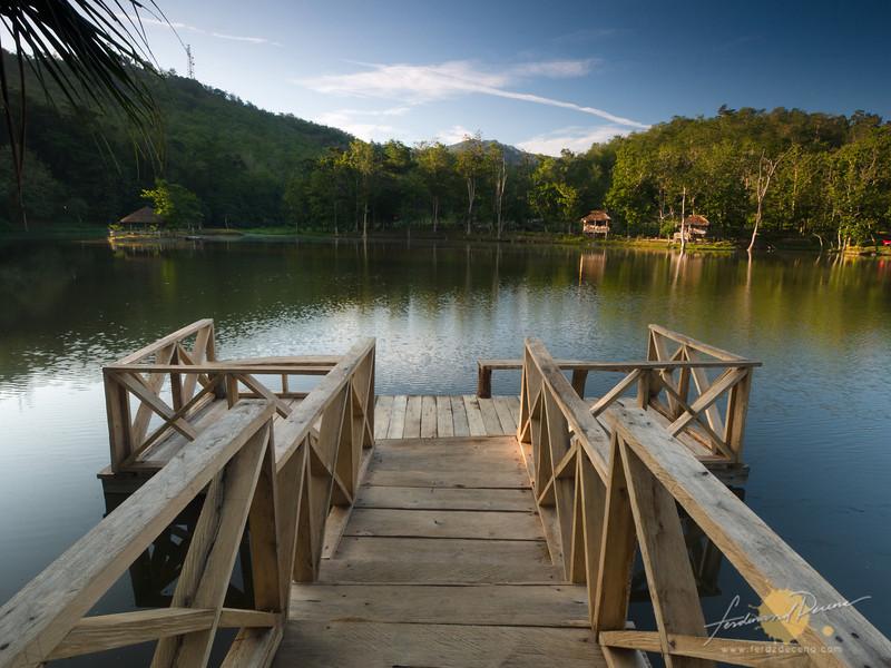 A small lake pier