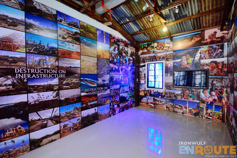A room dedicated to the Typhoon Pablo devastation
