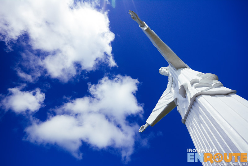 Looking up to the Christ the Redeemer