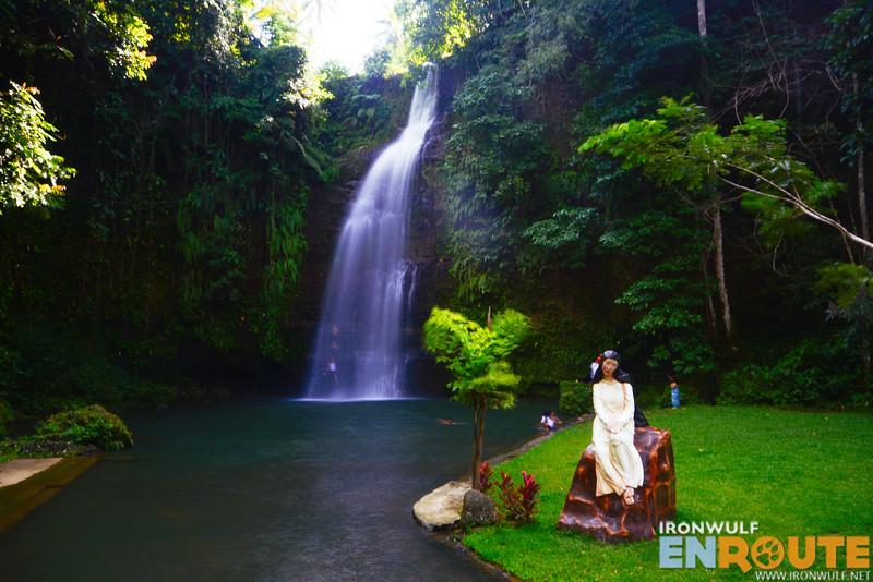 At the Sapang Dalaga Waterfalls park
