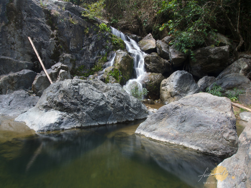 The Kay-ibon Falls and basin