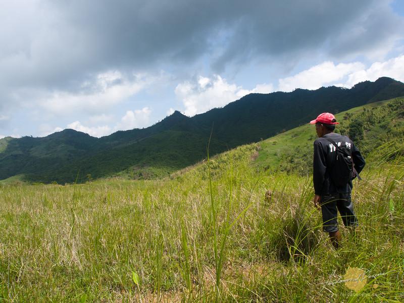 Kuya Emil looking at the Susong Dalaga peak