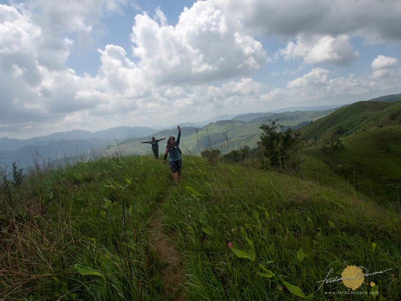 Bob and Skwid enjoying the ridge part of the trail