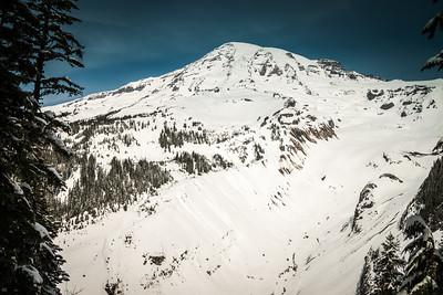 Mt Rainier from Nisqually Overlook