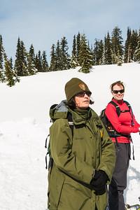 Ranger Leading Snowshoe Hike