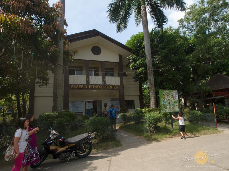 The gym, aerobics and park admin found inside the Eusebio Fitness Center