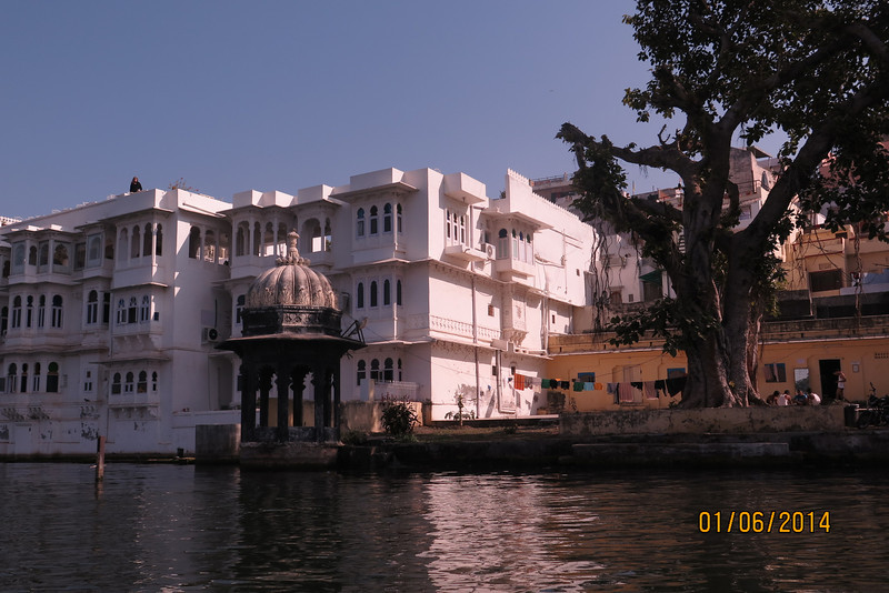Udaipur lake from a boat