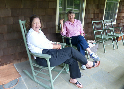Jan and Sue Brackett relaxing on their porch