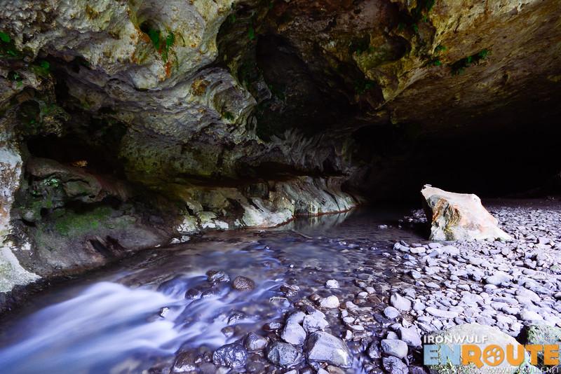 Stream flowing at Matangkib Cave