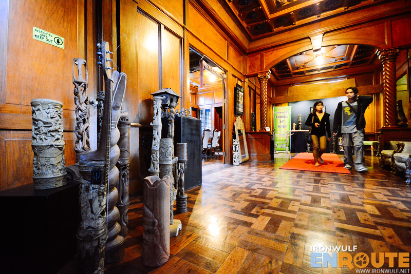 Intricate bamboo artworks at the exhibit