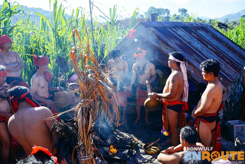 Prayers at the host Dap-ay in Matuba