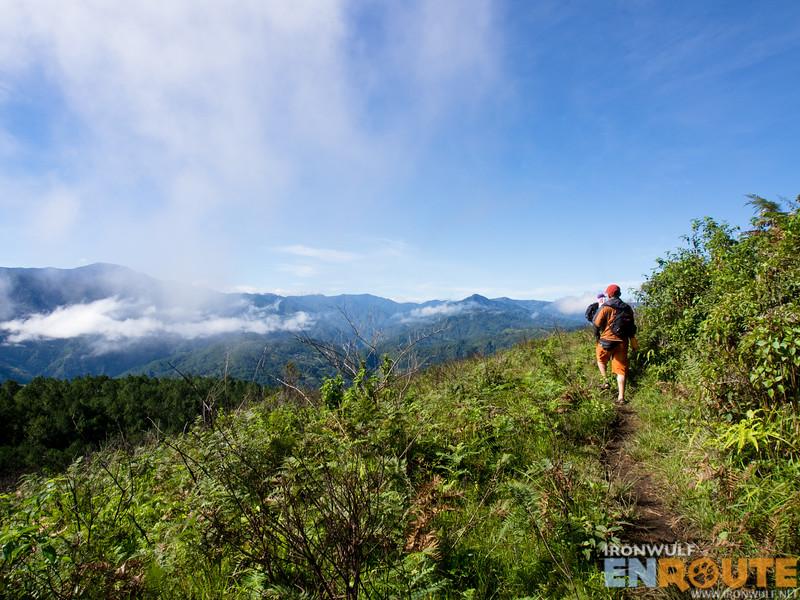Start of the hike from Kamanbaneng Peak