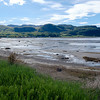 View across Anse St. Jean at low tide. Anse St. Jean is the main tourist area on the south shore of the Saguenay.
