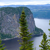 Closeup iof Cap Eternite, a solid granite massif in the fjord.