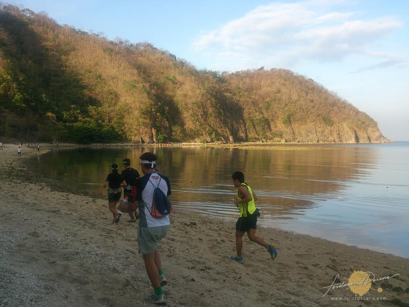 Running by the beach