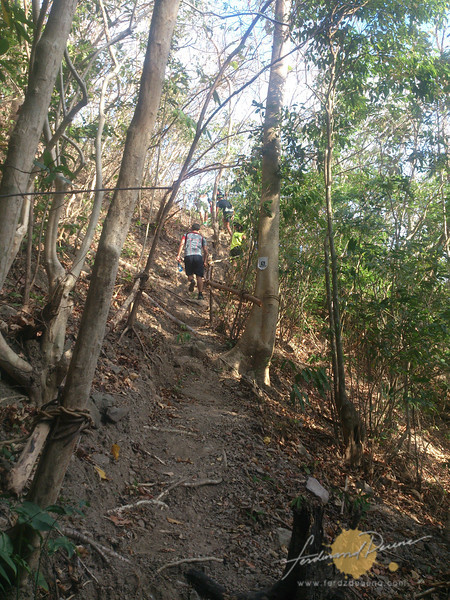 One of the steep climbs up the ridge