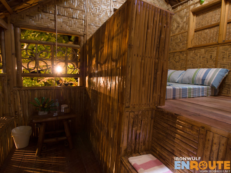 Inside the lower tree house by the beach