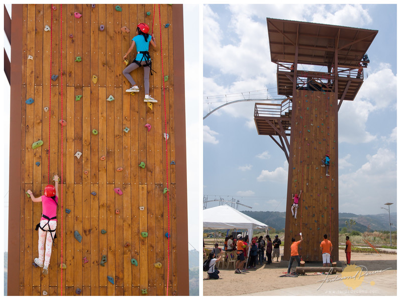 Climbing wall at the Adventure Tower