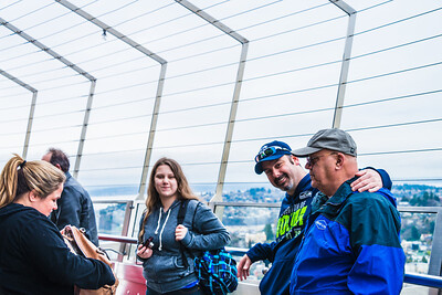 Mandy, Savanah, Kevin and Dale at the Space Needle