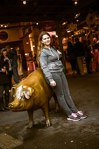 Savanah and the Pig at Pike Street Market