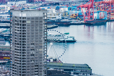 Seattle Waterfront from the Space Needle