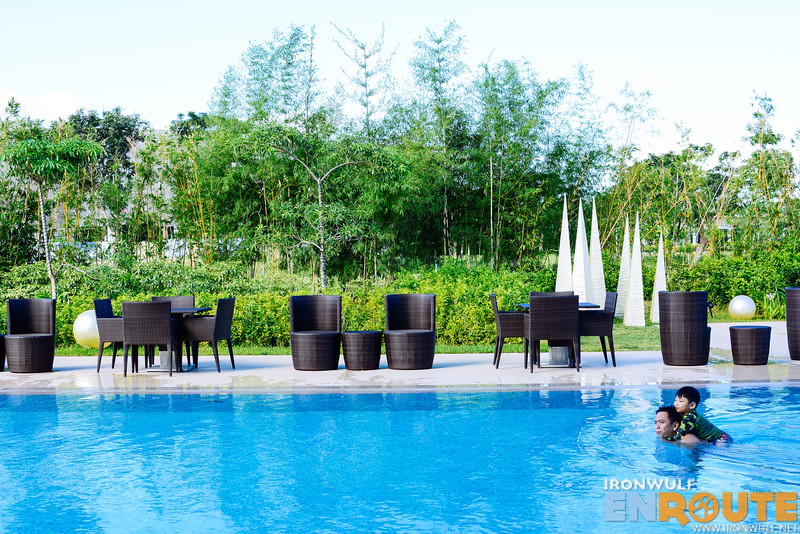Seda Nuvali's pool, ideal for family leisure trips