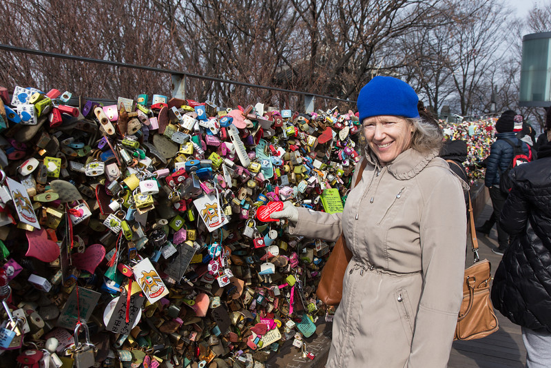 """Love Locks"" at Seoul Tower"