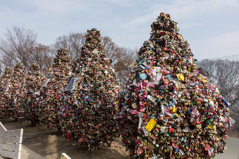 """""""Love Locks"""" at Seoul Tower"""