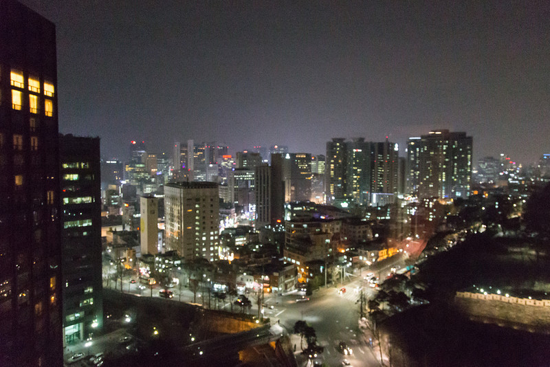View from Hilton Millenium Hotel, Seoul