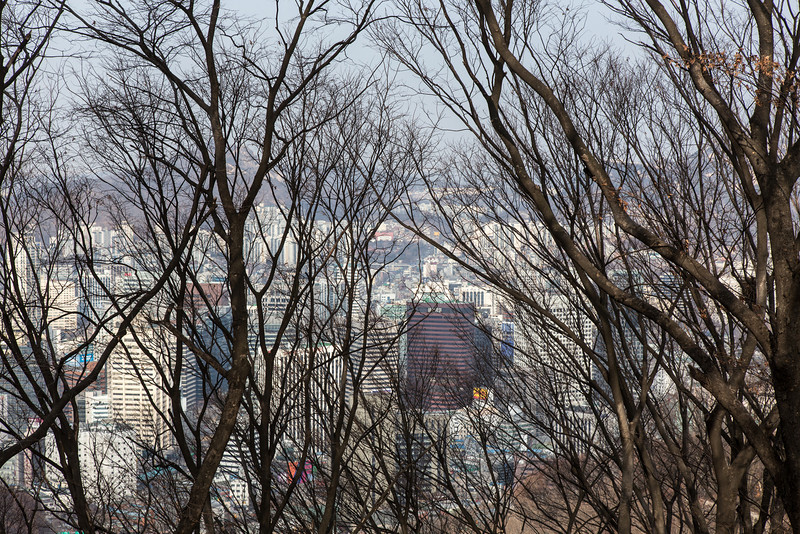 View from near Seoul Tower, Namsan Park.