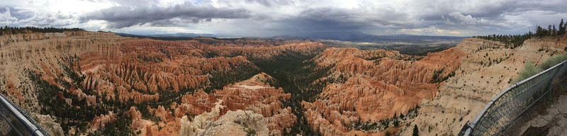 Panorama of Bryce Canyon Amphitheatre from Bryce Point.