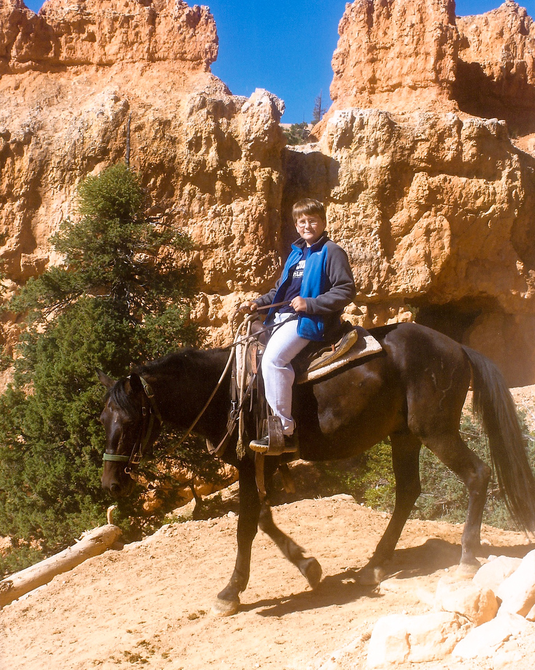 Andy rides in Bryce Canyon