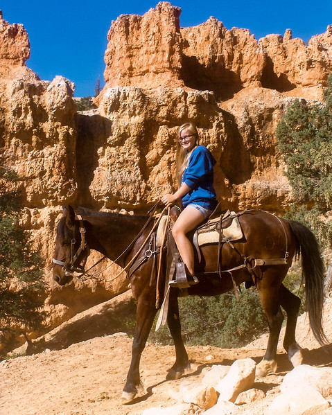 Mara rides in Bryce Canyon