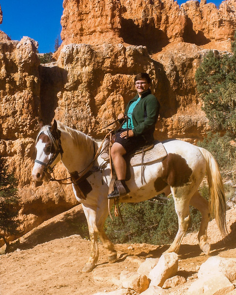 John rides in Bryce Canyon