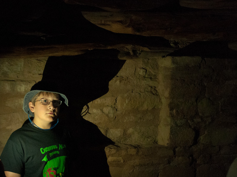 Andy in a kiva - Spruce Tree House