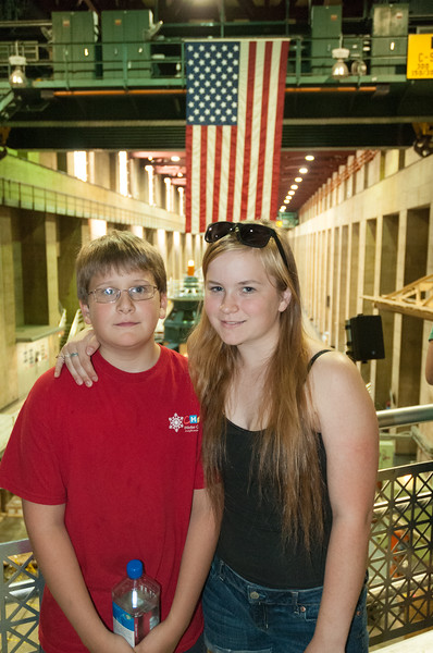 Andy and Mara check out the Turbines at the Hoover Dam.