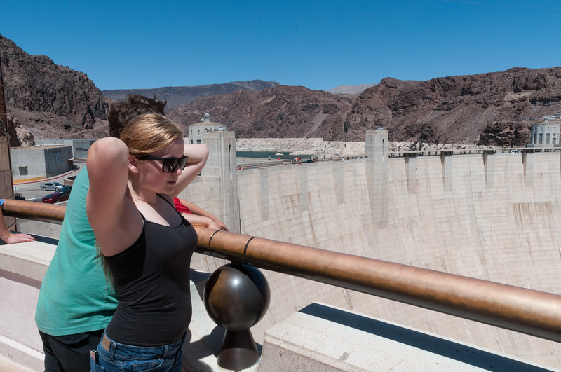Mara and John at the Hoover Dam.